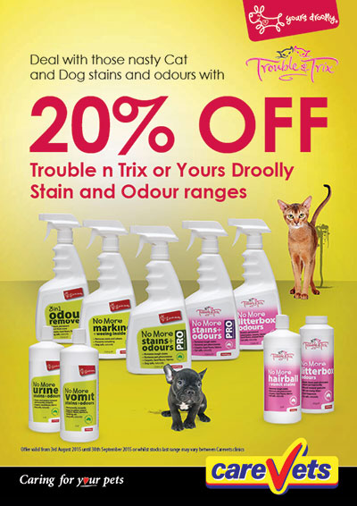 Trouble n Trix Yours Drooly Stain Odour Range