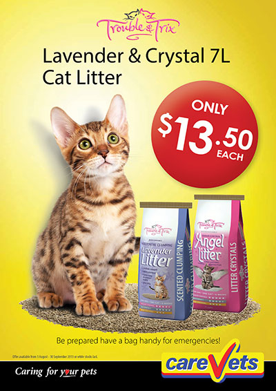 Lavender And Crystal Cat Litter