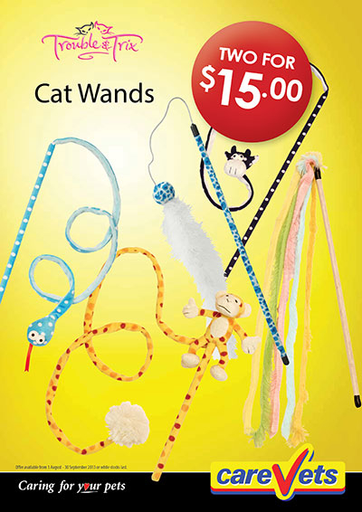 Trouble And Trix Cat Wands