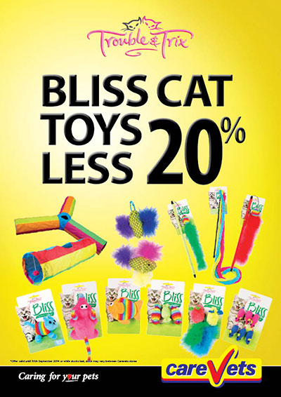 Trouble & Trix Bliss Cat toys 20% OFF.