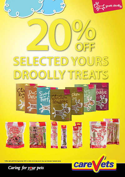20% OFF selected Yours Droolly treats.