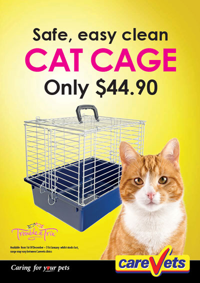 Safe, easy clean Trouble 'n' Trix Cat Cage