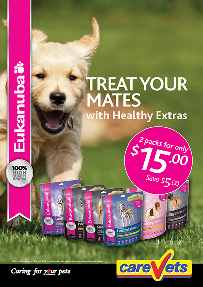 Eukanuba Healthy Extras two for $15