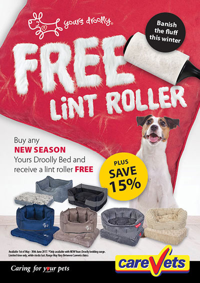 yours-droolly-dog-bed-free-lint-roller