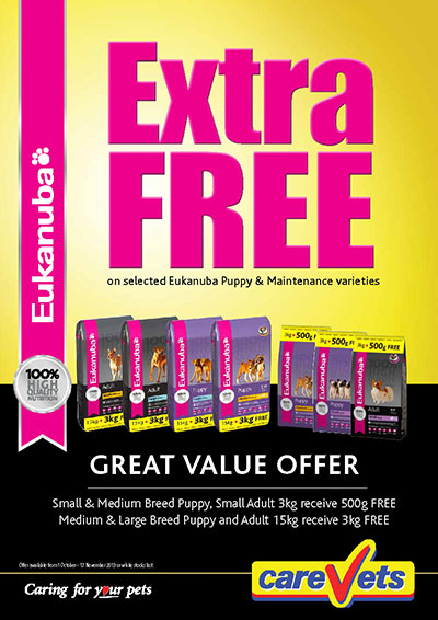 Extra FREE on selected Eukanuba Dog Foods